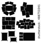 photo frames composition set on ... | Shutterstock .eps vector #488753341