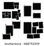 album photo frames composition... | Shutterstock .eps vector #488753359