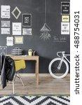 shot of a modern home office... | Shutterstock . vector #488754031
