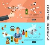 pest control services banner... | Shutterstock .eps vector #488758465