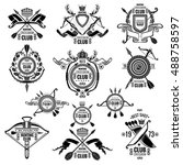 big set of vector emblems for... | Shutterstock .eps vector #488758597
