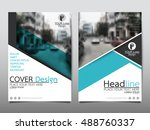 blue technology cover business...   Shutterstock .eps vector #488760337