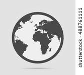simple black white flat earth... | Shutterstock .eps vector #488761111