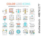 color line  law illustrations ... | Shutterstock .eps vector #488761177
