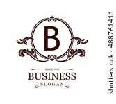 elegant b logo | Shutterstock .eps vector #488761411