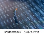 concept of financial stock... | Shutterstock . vector #488767945