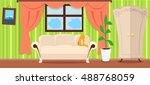 apartment interior concept .... | Shutterstock . vector #488768059
