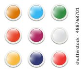 set of vector buttons for web... | Shutterstock .eps vector #488768701