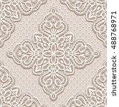 vintage lace ornament  elegant... | Shutterstock .eps vector #488768971