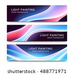 set of horizontal banners with... | Shutterstock .eps vector #488771971