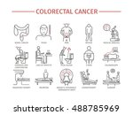 colorectal cancer symptoms.... | Shutterstock .eps vector #488785969