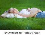 pregnant woman | Shutterstock . vector #488797084