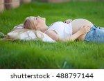 pregnant woman | Shutterstock . vector #488797144