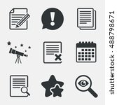 file document icons. search or... | Shutterstock .eps vector #488798671