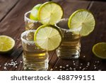 macro photo of shots of gold... | Shutterstock . vector #488799151