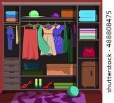 closet wardrobe with fashion...