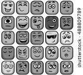 set of colorful emoticons ... | Shutterstock .eps vector #488809789