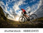 low angle view of cyclist... | Shutterstock . vector #488810455