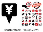 yen map pointer pictograph with ... | Shutterstock .eps vector #488817394