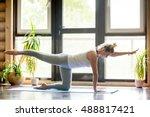 full length portrait of... | Shutterstock . vector #488817421