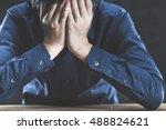 man trouble | Shutterstock . vector #488824621