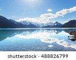 hike to turquoise garibaldi... | Shutterstock . vector #488826799