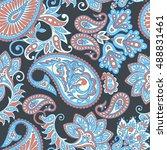 paisley seamless pattern....   Shutterstock .eps vector #488831461