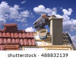 Roofer Builder Worker Repairin...