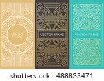 vector set of monogram design...   Shutterstock .eps vector #488833471