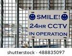 cctv warning sign   Shutterstock . vector #488835097