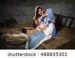 live christmas nativity scene... | Shutterstock . vector #488835301