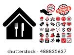 restaurant icon with bonus icon ...   Shutterstock .eps vector #488835637