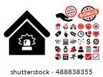 realty alarm icon with bonus... | Shutterstock .eps vector #488838355