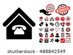 phone station icon with bonus... | Shutterstock .eps vector #488842549