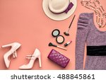 autumn fashion woman clothes... | Shutterstock . vector #488845861