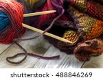 Colorful Skeins Of Wool With...