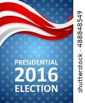 usa presidential election 2016... | Shutterstock .eps vector #488848549