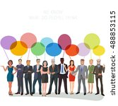 large group of business people... | Shutterstock .eps vector #488853115