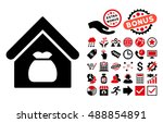 harvest warehouse icon with... | Shutterstock .eps vector #488854891