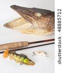 Fishing Trophy With Metallic...