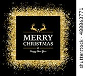 christmas background with... | Shutterstock .eps vector #488863771