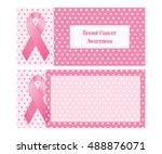 horizontal banner for breast... | Shutterstock .eps vector #488876071