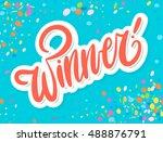 winner banner. | Shutterstock .eps vector #488876791