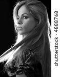 beautiful profile of blond... | Shutterstock . vector #4888768