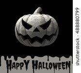 halloween pumpkin jack lantern... | Shutterstock .eps vector #488880799
