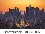 view of la defense district... | Shutterstock . vector #488881807