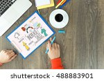 business company finance and... | Shutterstock . vector #488883901
