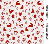 merry christmas and happy new... | Shutterstock .eps vector #488885089
