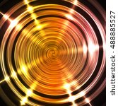 glow spiral background | Shutterstock .eps vector #488885527