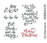 set of hand drawn vector quotes.... | Shutterstock .eps vector #488886535
